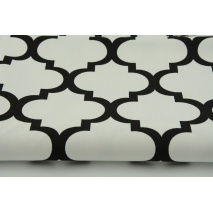 HOME DECOR black moroccan trellis on a white background II quality