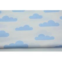 Bawełna 100% niebieskie chmurki na białym tle II jakość