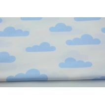 Cotton 100% blue clouds on a white background II quality