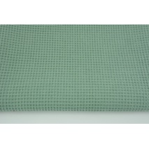 Cotton 100%, waffle fabric, plain sage color