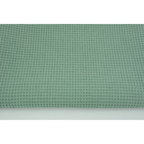 Cotton 100%, waffle fabric, plain sage color