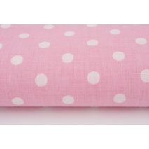 Cotton 100% polka dots 7mm on a pink background