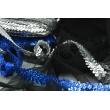 Sequin ribbon silver 20mm, elastic