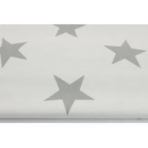 HOME DECOR biała w duże, szare gwiazdy HD II jakość