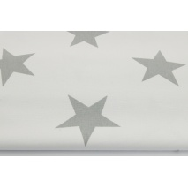 HOME DECOR big, gray stars on a white background II quality