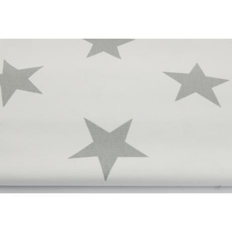 HOME DECOR big, gray stars on a white background