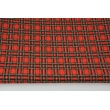 Knitwear 100% cotton Scottish check red-green