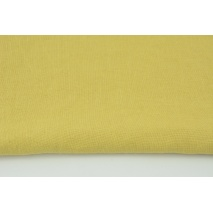 100% plain linen in a light mustard color, softened 225g/m2