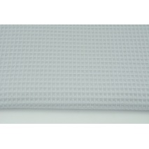 Cotton 100% waffle, gray-light blue CZ