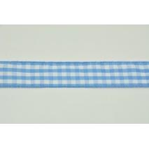 Tasiemka, wstążka krata niebieska 25mmx10m