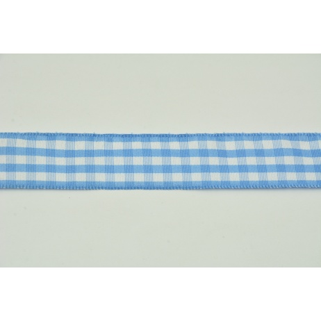 Ribbon blue check 25mmx10m