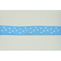 Ribbon blue taffeta dotted 25mmx10m