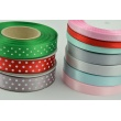 Ribbon green dotted 15mm