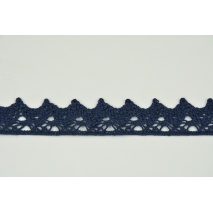 Cotton lace 25mm, dark navy