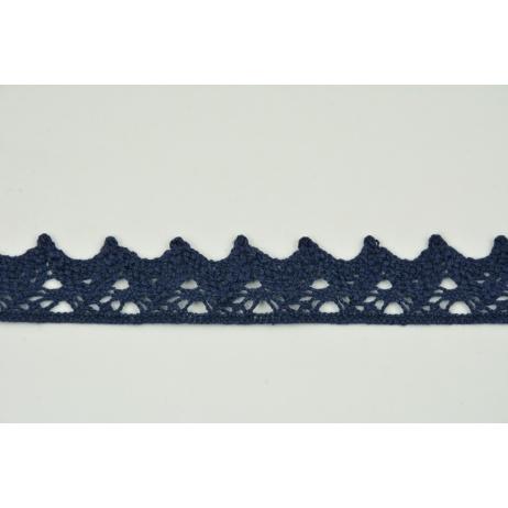 Cotton lace 25mm, dark navy