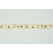 Tasiemka bawełniana z krawieckim motywem (2) 20mm