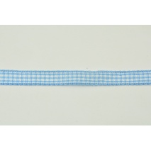 Ribbon blue cheerful check 10mm x 10m