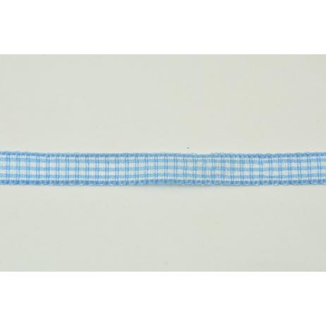 Tasiemka, wstążka pepitka niebieska 10mmx10m
