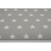 Cotton 100% stars 20mm on a light gray background II quality