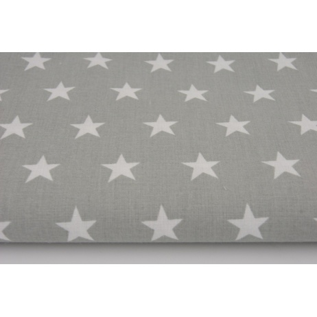 Cotton 100% stars 20mm on a light gray background