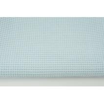 Cotton 100%, waffle fabric, plain baby blue