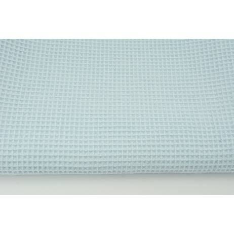 Cotton 100%, waffle fabric, plain baby blue