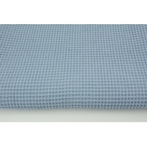 Cotton 100%, waffle fabric, plain blue