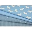 Cotton 100%, waffle fabric, plain blue