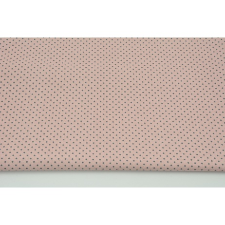 Cotton 100% mini dark gray dots on a dirty pink background