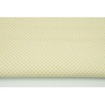 Bawełna 100% mini kropki beżowe na kremowym tle