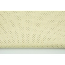 Cotton 100% mini beige dots on a cream background