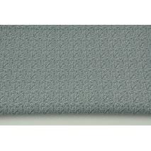 Bawełna 100% mikro gałązki jasnoszare na grafitowym tle RZ