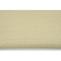 Bawełna 100% mikro gałązki beżowe na kremowym tle RZ