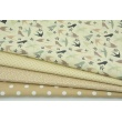 Cotton 100% mini beige dots on a cream background