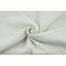 70% poliester 30% wełna, tkanina z fakturą - biała