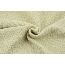 70% polyester 30% wool, fabric with a texture, plain natural