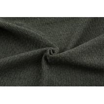 70% poliester 30% wełna, tkanina z fakturą - ciemnoszara