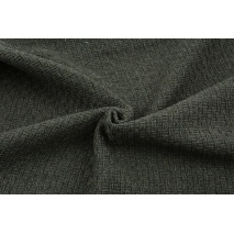 70% polyester 30% wool, fabric with a texture, plain dark gray