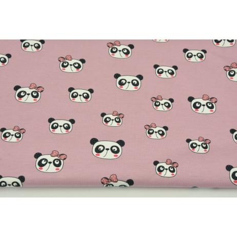 Jersey w pandy na jagodowym różu