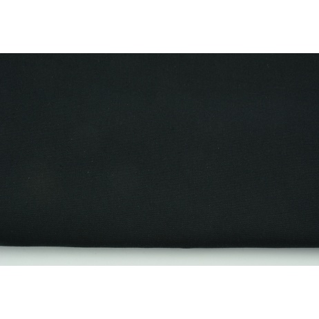 HOME DECOR plain black 100% cotton 250 g/m2
