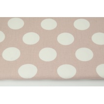 HOME DECOR large polka dots on a dirty pink background 220g/m2