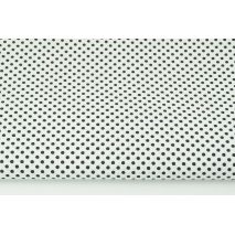 Cotton 100% black polka dots 3mm on a white background