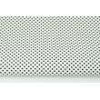 Bawełna 100% biała w czarne kropeczki 3mm
