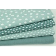 Cotton 100% white spots on a bright azure background PREMIUM
