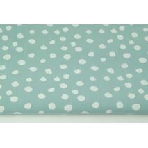 Cotton 100% white spots on a bright azure background PREMIUM