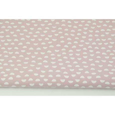 Bawełna 100% małe białe półkola na brudnym wrzosie PREMIUM