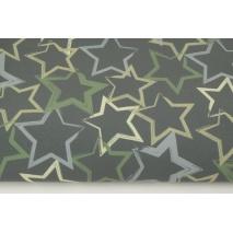 Softshell khaki w zielone, szare gwiazdy