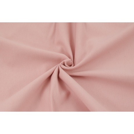 Looped knitwear plain smoky pink
