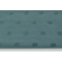 Knitted fabric with fluffy dots, dark azure