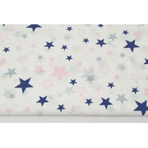 Cotton 100% mix, stars gray-navy-pink